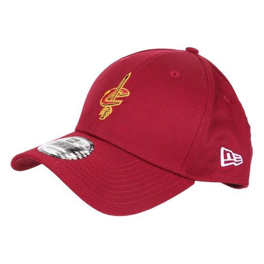 Boné New Era NBA Cleveland Cavalieres Aba Curva Snapback 9Forty - Vermelho Escuro