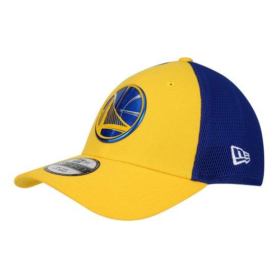 Boné New Era NBA Golden State Warriors Aba Curva 3930 17 Onc 2 Masculino - Amarelo+Azul