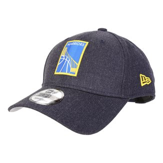 Boné New Era NBA Golden State Warriors Aba Curva Masculino