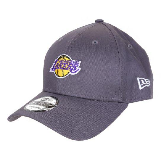 Boné New Era NBA Los Angeles Lakers Aba Curva Snapback 9Forty - Chumbo