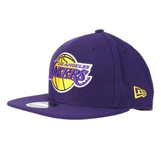 Boné New Era NBA Los Angeles Lakers Aba Reta 950 OF SN Primary Otc