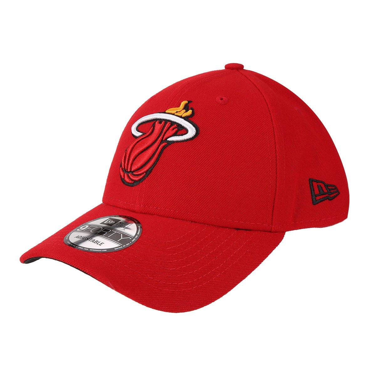 63579ed6560c1 Boné New Era NBA Miami Heat Aba Curva Primary - Vermelho - Compre Agora
