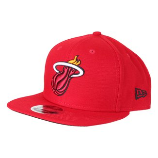 Boné New Era NBA Miami Heat Aba Reta Snapback 9Fifty Of Sn Primary