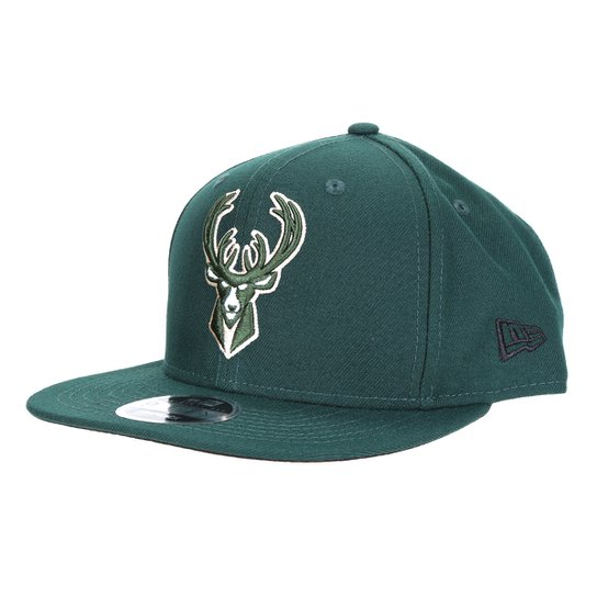 Boné New Era NBA Milwaukee Bucks Aba Reta Snapback 950 - Verde