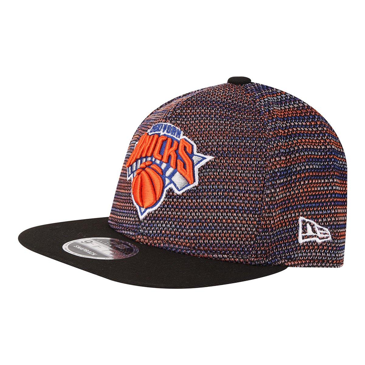 d016a92a50 Boné New Era NBA New York Knicks Aba Reta Street - Preto e Laranja | Loja  NBA