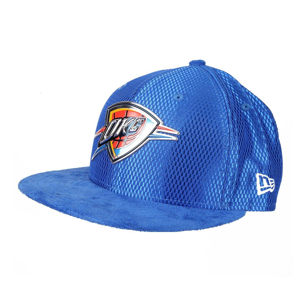 Boné New Era NBA Oklahoma City Thunder Aba Reta 950 SN 17 - Azul Royal - Compre  Agora  c772365a3be