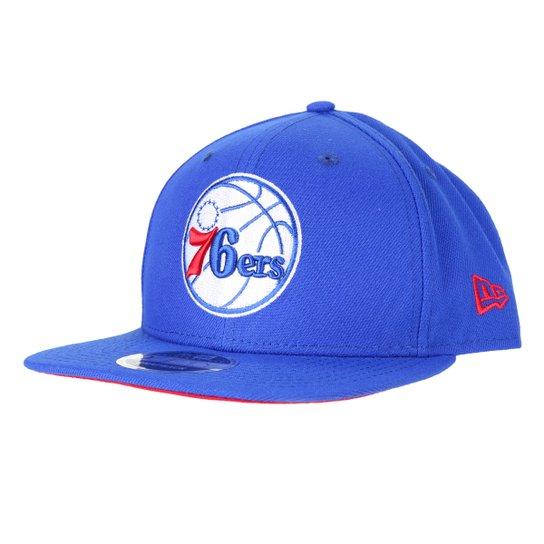 Boné New Era NBA Philadelphia 76ers Aba Reta Snapback 9Fifty Of Sn Primary - Azul Royal