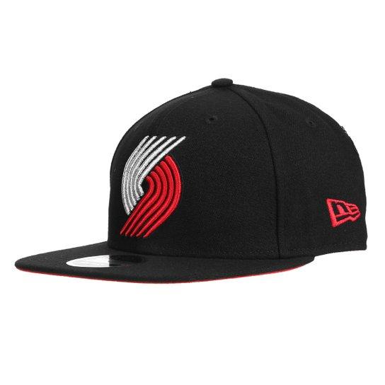 Boné New Era NBA Portland Trail Blazers  Aba Reta 950 Snapback Masculino - Preto