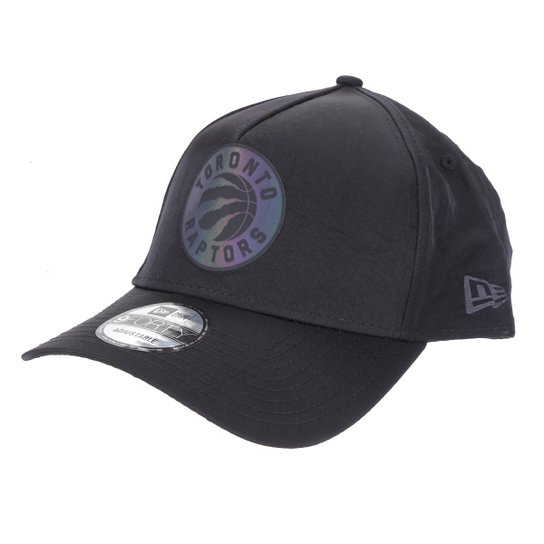 Boné New Era NBA Toronto Raptors Aba Curva Snapback A-Frame Rave Space Galaxy 9 Forty - Preto