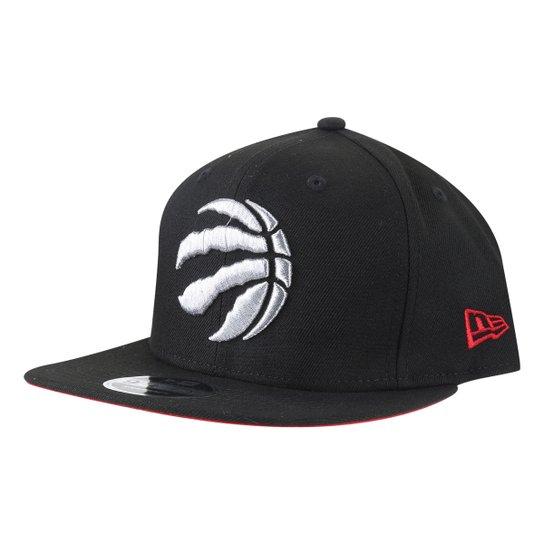 Boné New Era NBA Toronto Raptors Aba Reta Snapback Of Primary - Preto