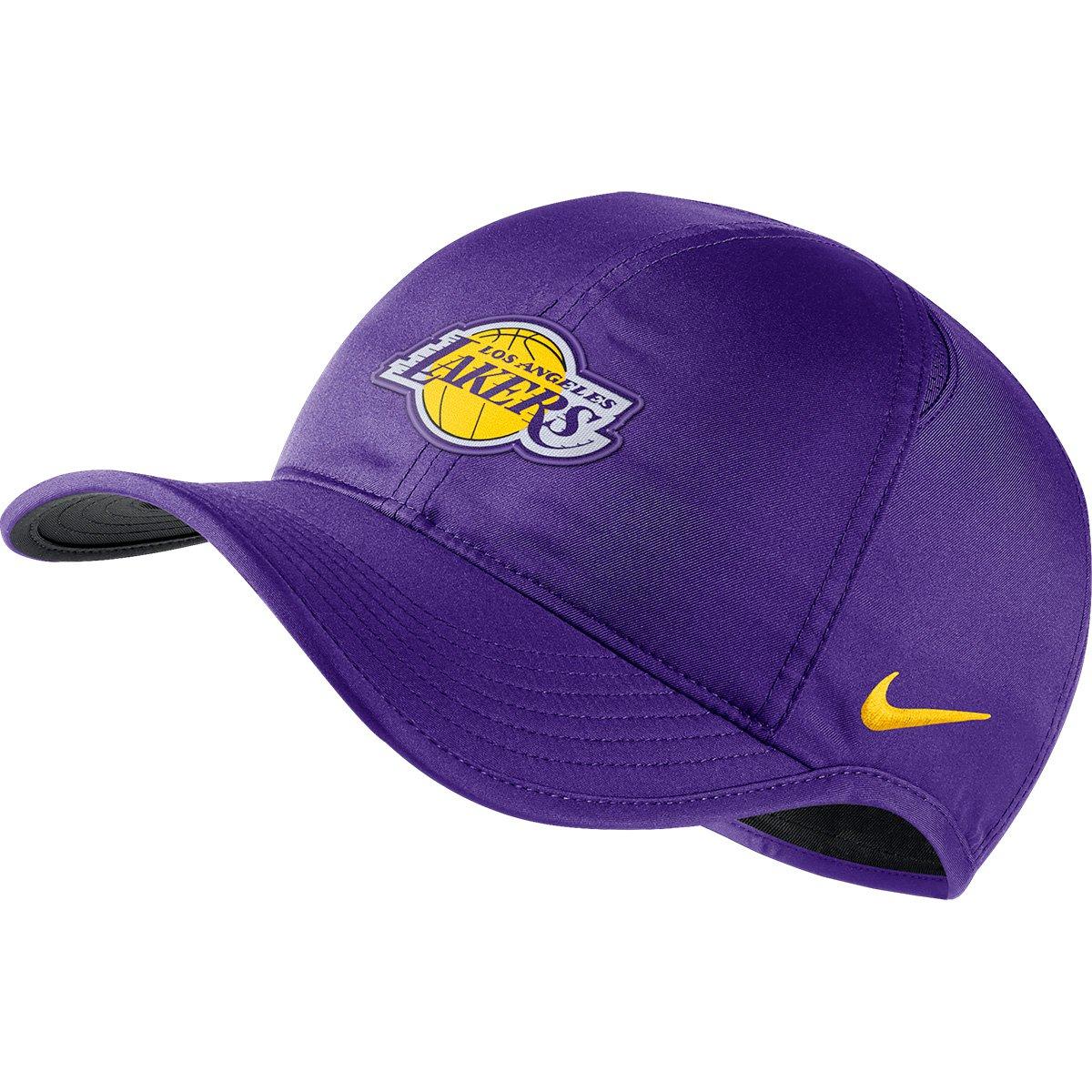 829ab47eb5e35 Boné Nike NBA Los Angeles Lakers Aba Curva Featherlight | Loja NBA