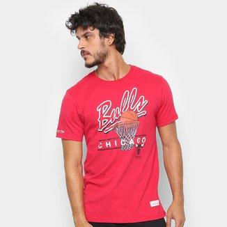 Camisa Mitchell & Ness Drive To The Basket Chigaco Bulls Masculina