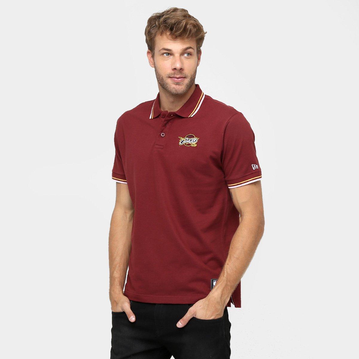 Camisa Polo New Era NBA Team Color Cleveland Cavaliers - Compre Agora  b574944b200