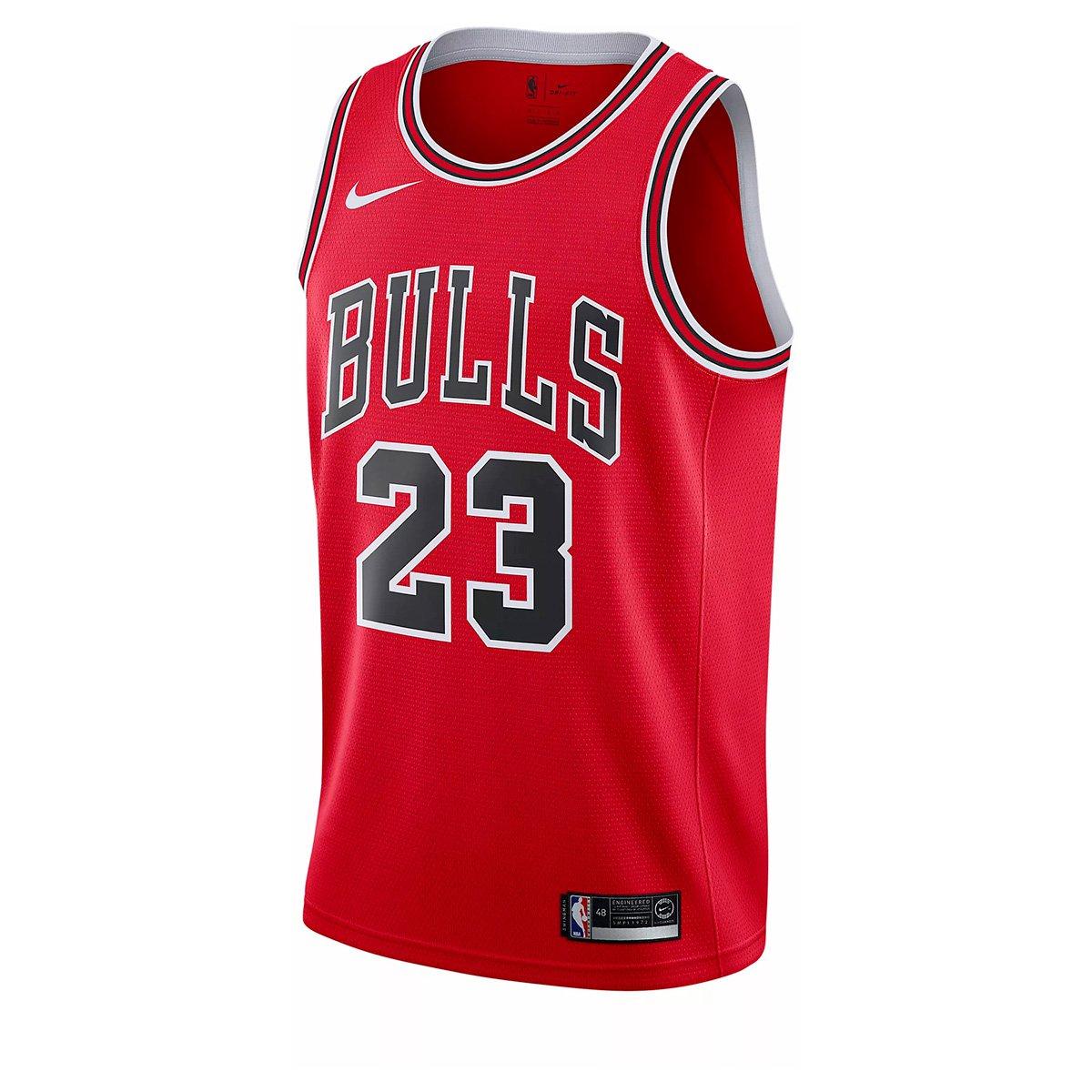 cc36419be3f2b Camisa Regata Nike Chicago Bulls Swingman Road NBA - Michael Jordan -  Compre Agora