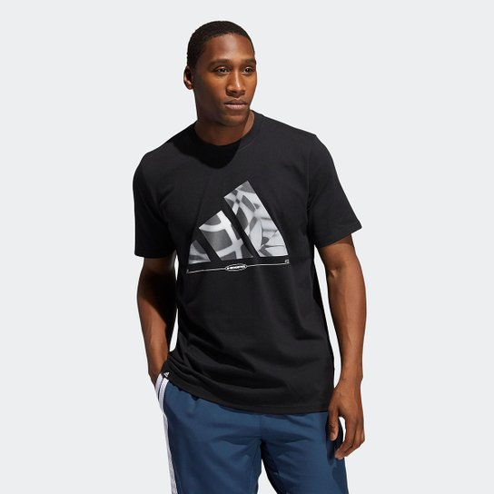 Camiseta Adidas Hoops Masculina - Preto