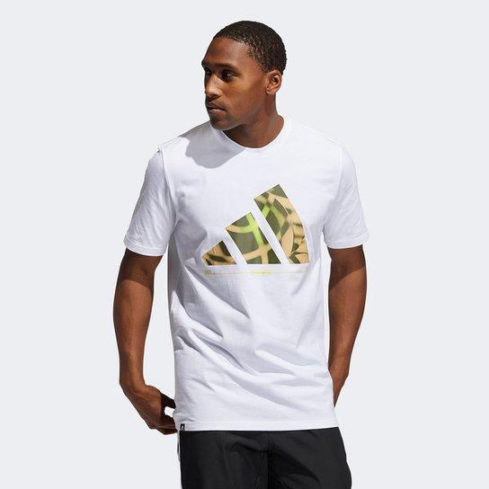 Camiseta Adidas Hoops Masculina - Branco