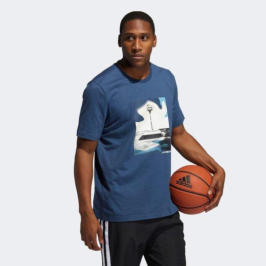 Camiseta Adidas Slept On Masculina - Azul