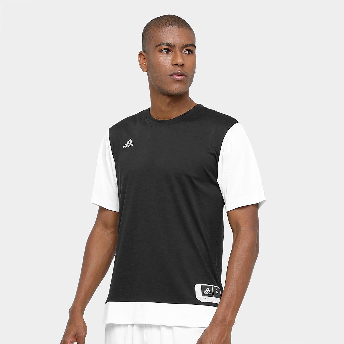 d5e1c5c1a57a2 Camiseta Adidas Teamstock Shoot Masculina - Preto - Compre Agora ...