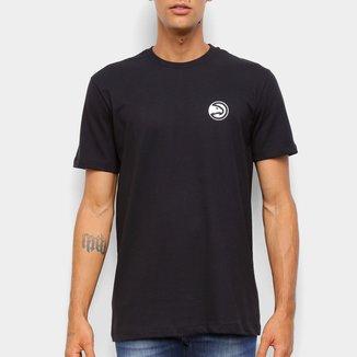 Camiseta Black Pack NBA Atlanta Hawks New Era Logo Atlhaw Masculina