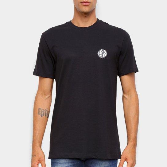 Camiseta Black Pack NBA Dallas Mavericks New Era Logo Dalmav Masculina - Preto