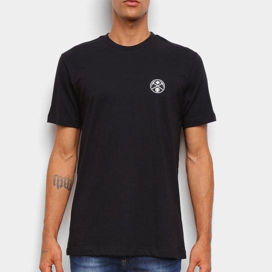 Camiseta Black Pack NBA Denver Nuggets New Era Logo Dennug Masculina - Preto