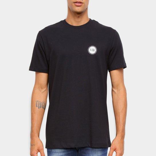 Camiseta Black Pack NBA Detroit Pistons New Era Logo Shield Masculina - Preto