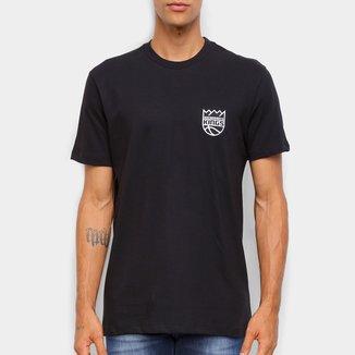 Camiseta Black Pack NBA Sacramento Kings New Era Logo Sackin Masculina