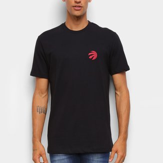 Camiseta Black Pack NBA Toronto Raptors New Era Logo Torrap Masculina