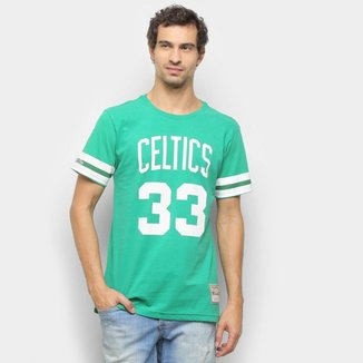 Camiseta Boston Celtics Bird Mitchell & Ness Masculina