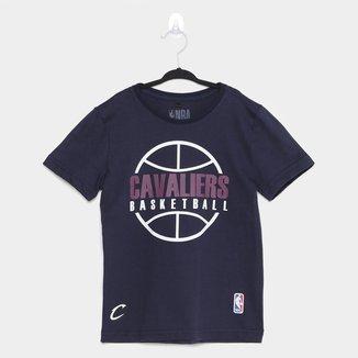 Camiseta Cleveland Cavaliers Infantil NBA Outline Masculina