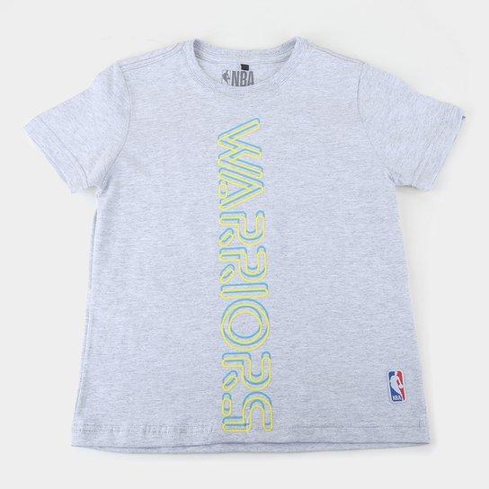 Camiseta Golden State Warriors Juvenil NBA Masculina - Cinza