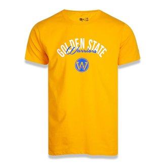 Camiseta Golden State Warriors New Era Core Semisign Masculina