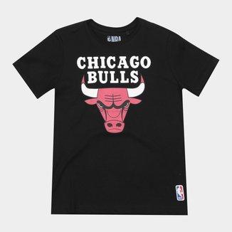 Camiseta Infantil NBA Chicago Bulls Big Logo Masculina