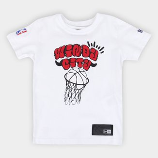 Camiseta Infantil NBA Chicago Bulls New Era Masculina