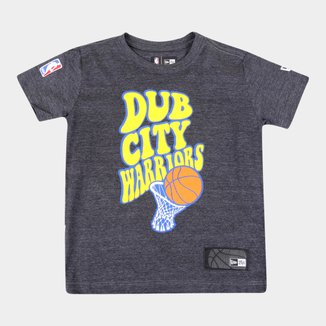 Camiseta Infantil New Era NBA Golden State Warriors Dub City Masculina