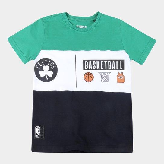 Camiseta Juvenil Boston Celtics NBA Especial Masculina - Verde