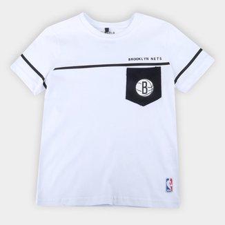 Camiseta Juvenil Brooklyn Nets NBA Especial Masculina