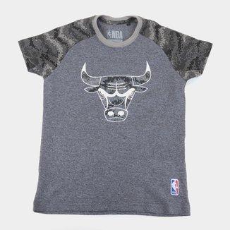 Camiseta Juvenil Chicago Bulls NBA Camo Masculina
