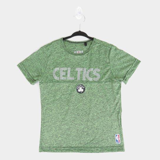 Camiseta Juvenil NBA Boston Celtics Shine Masculina - Verde