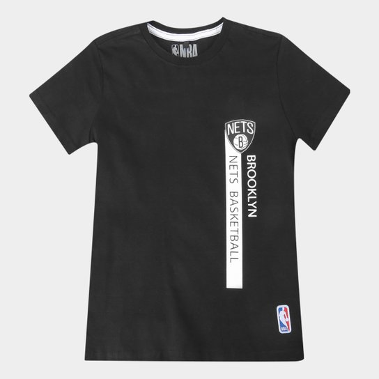 Camiseta Juvenil NBA Brooklyn Nets Flush Bronet Masculina