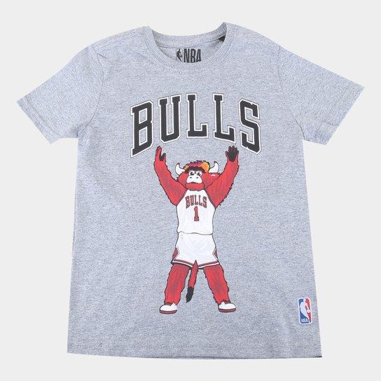 Camiseta Juvenil NBA Chicago Bulls Mascote Masculina - Mescla