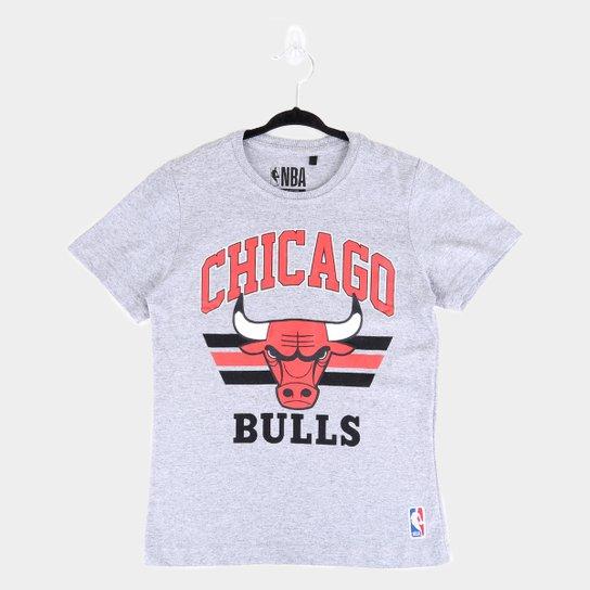 Camiseta Juvenil NBA Chicago Bulls Team Arch Masculina - Mescla