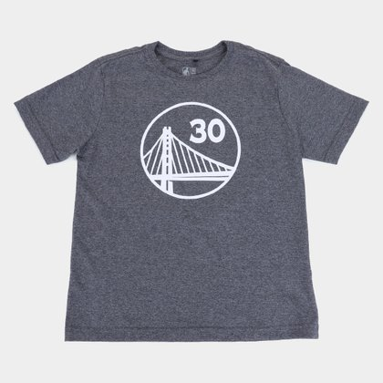 Camiseta Juvenil NBA Golden State Warriors Curry 30 Masculina
