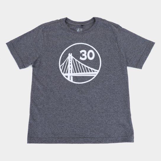 Camiseta Juvenil NBA Golden State Warriors Curry 30 Masculina - Grafite