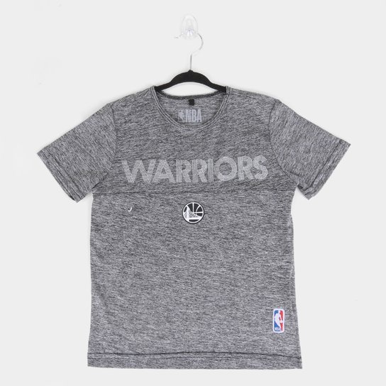 Camiseta Juvenil NBA Golden State Warriors Masculina - Mescla
