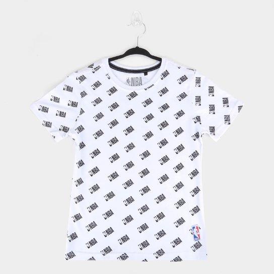 Camiseta Juvenil NBA Logo Masculina - Branco