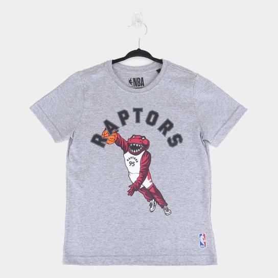 Camiseta Juvenil NBA Toronto Raptors Masculina - Mescla