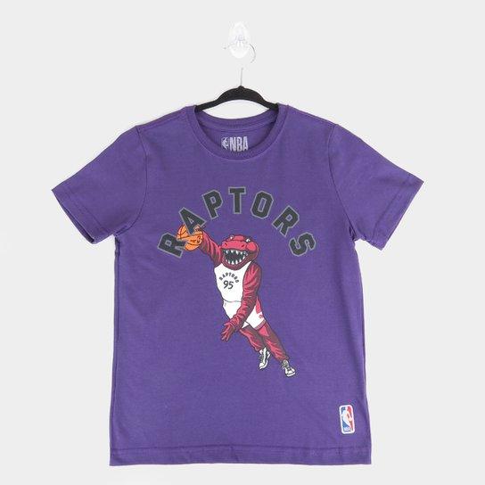 Camiseta Juvenil NBA Toronto Raptors Masculina - Roxo