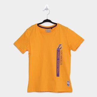 Camiseta Los Angeles Lakers Infantil NBA Flush Loslak Masculina