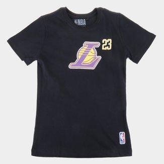 Camiseta Los Angeles Lakers Lebron James Juvenil NBA Masculina